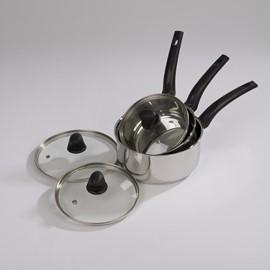 Saucepan & Frying Pan Stainless Steel Set (3 pc)