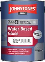 Johnstone's AQUA GLOSS BRILLIANT WHITE 2.5L