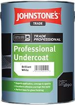 Johnstone's PROFESSIONAL UNDERCOAT BRILLIANT WHITE 2.5L