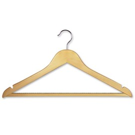 Light Wood Coat Hanger With Traditional Hook & Rub