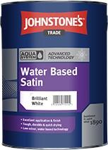 Johnstone's AQUA SATIN BRILLIANT WHITE 5L