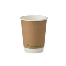 12oz Kraft Compostable Cups Case x 500