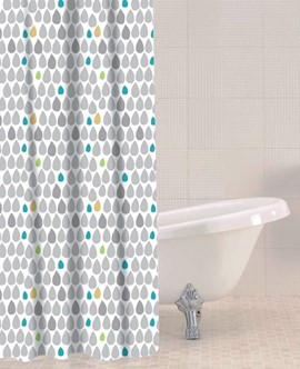 Rain Drops PEVA Shower Curtain