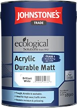 Johnstone's ACRYLIC MATT BRILLIANT WHITE 10L