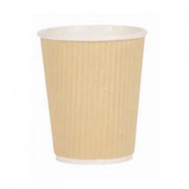 8oz kraft triple walled ripple coffee cup case x 500