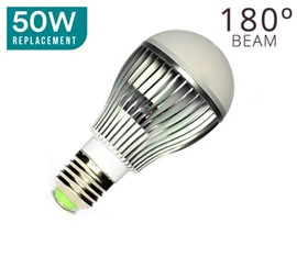 E27 5W LED = 50W Halogen (Globe)