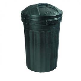 Black Plastic Dustbin with Lid 80L (BULK BUY)
