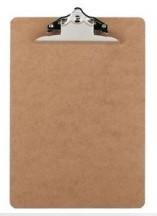 Hardboard Clipboard A4 Portrait Brown