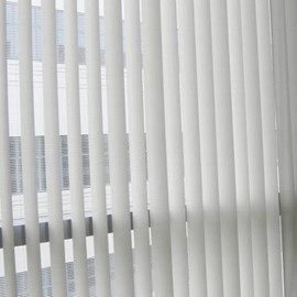 "Fabric Vertical Blind Track 60"" White"