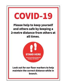 COVID-19 Safety Signage x10