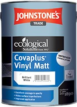 Johnstone's COVA PLUS VINYL MATT PB WHITE 10L
