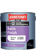 Johnstone's SATIN FINISH BRILLIANT WHITE 2.5L