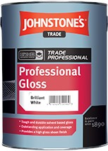 Johnstone's PROFESSIONAL GLOSS BRILLIANT WHITE 2.5L