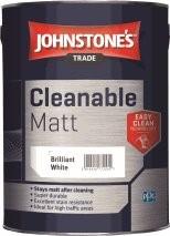 Johnstone's CLEANABLE MATT BRILLIANT WHITE 5L