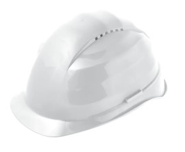 White Hard Hat Adjustable
