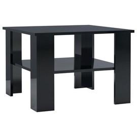 Coffee Table High Gloss Chipboard - Black