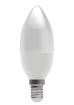 4W SES/E14 WARM WHITE LED OPAL CANDLE LAMP, 35MM