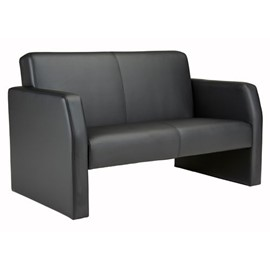 Face Faux Leather 2 Seater Sofa