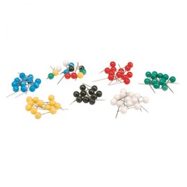 Office Map Pins 5mm Head Assorted [Pack 100]