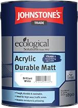 Johnstone's ACRYLIC MATT BRILLIANT WHITE 5L