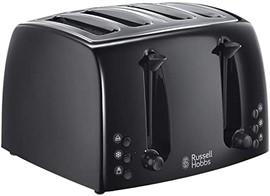 4 Slice Toaster Extra Wide - Black