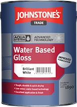 Johnstone's AQUA GLOSS BRILLIANT WHITE 5L