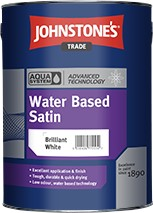 Johnstone's AQUA SATIN BRILLIANT WHITE 2.5L