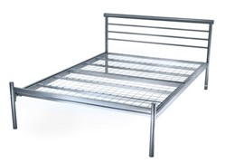 Contract Silver Bed - 4'6 (Mesh/Slat) - Delivery