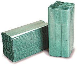 Green C-Fold hand towel (2560) HC125GR