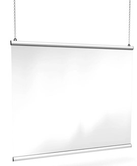 Hanging Perspex Screen - 1500mm x 1000mm
