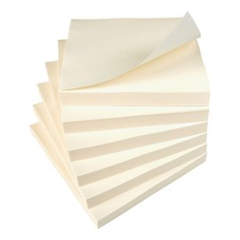 5 Star Value Repositionable Notes 75x75mm Yellow [Pack 12]