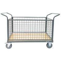 Mesh Back Platform Trolley - 4 Sided - 500kg