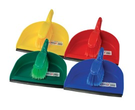 Plastic Brush & Dustpan Set YELLOW