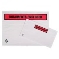Packing List Document Wallet Polythene Documents Enclosed Printed Text A5 225x165mm White [Pack 1000]