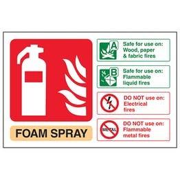 Foam Spray Fire Extinguisher Adhesive Vinyl