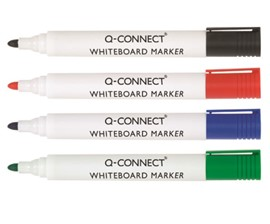 Q Connect Dry Wipe Marker Wallet of 4 Assorted