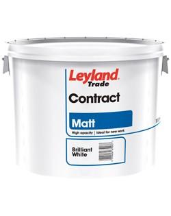 Leyland Contract Matt Brilliant White 10L