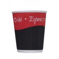 8oz kraft triple walled ripple coffee cup sleeve x25