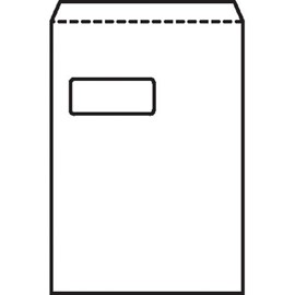 5 Star Office Envelopes PEFC Pocket Peel & Seal Window 100gsm C4 324x229mm White [Pack 250]