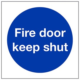 Fire door keep shut - adhesive vinyl