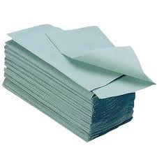 Green V Fold Hand Towel (5000 towels)