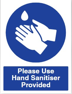 Please use sanitiser provided adhesive