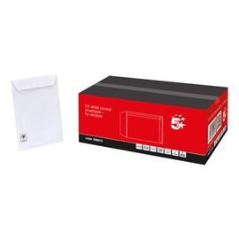 5 Star Office Envelopes PEFC Pocket Peel & Seal 100gsm C5 229x162mm White [Pack 500]