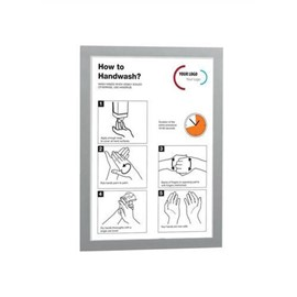 Durable Duraframe A4 Self Adhesive with Magnetic Frame Silver Ref 487223 [Pack 2]