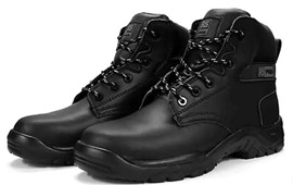 Black Fibreglass Toe Capped Safety Boots