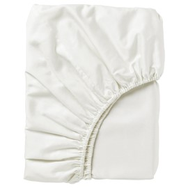 4 Foot Bed 68 Pick Polycotton Fitted Sheet - white