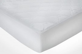 Quilted Extra Deep Mattress Protector White Double