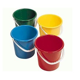 Round Plastic Bucket RED