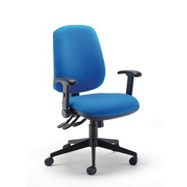 High Back Task Chair + adjustable arms
