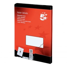 Printable Labels 8 per Sheet - White (800 Sheets)